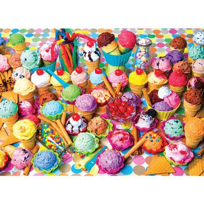 Ice Cream Cones Collage 300 Large Piece Jigsaw Puzzle