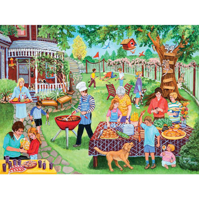 Backyard Barbeque 300 Large Piece Jigsaw Puzzle