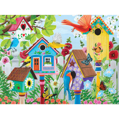 Birdhouse Garden 500 Piece Jigsaw Puzzle