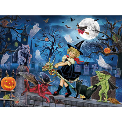 Littlest Witch's Halloween Party 300 Large Piece Jigsaw Puzzle