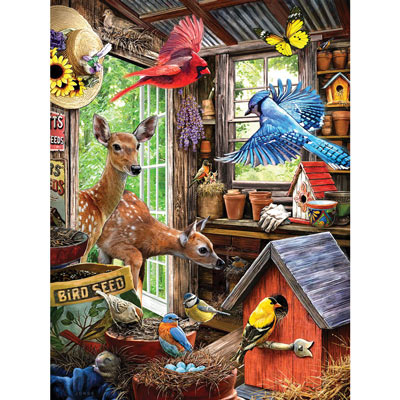 Nesting In The Shed 500 Piece Jigsaw Puzzle