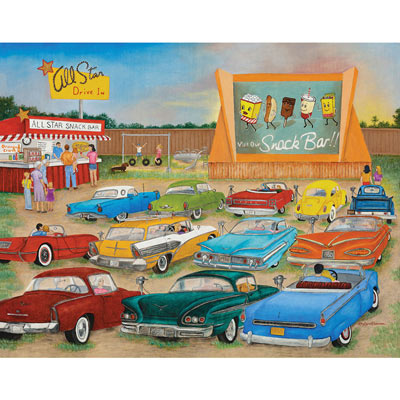 Drive In 500 Piece Jigsaw Puzzle