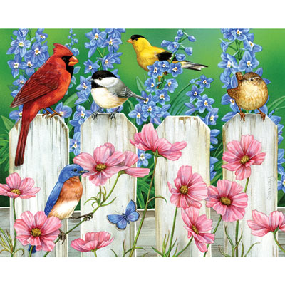 Picket Fence Pal 300 Large Piece Jigsaw Puzzle