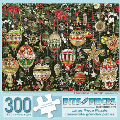 Christmas Ornaments 300 Large Piece Jigsaw Puzzle
