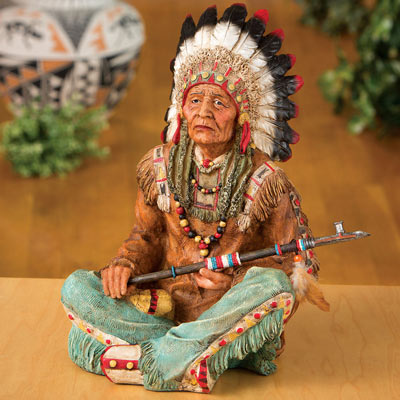 Native American Chief Sculpture
