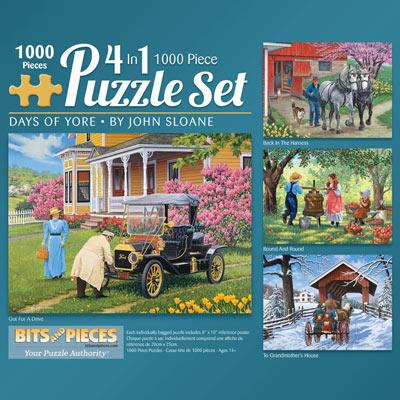 John Sloane 1000 Piece 4-in-1 Multi-Pack Set
