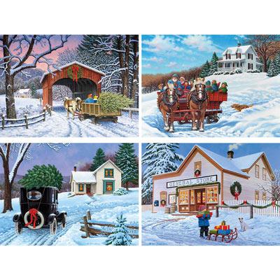 Set of 4: John Sloane 1000 Piece Jigsaw Puzzles