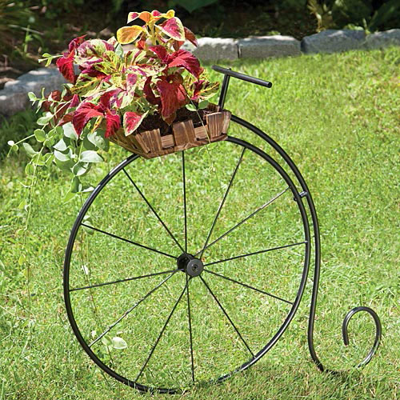 High Wheel Antique Bicycle Planter