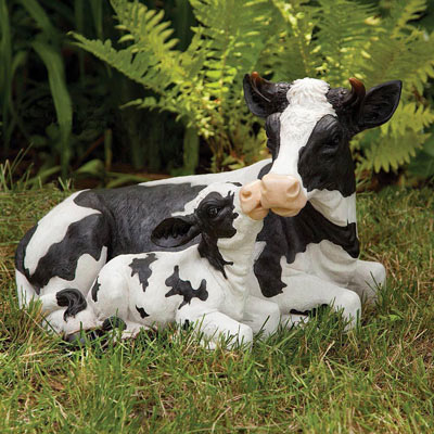 Mother Cow And Calf Garden Statue