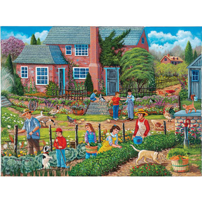 Neighbors Helping Neighbors 500 Piece Jigsaw Puzzle