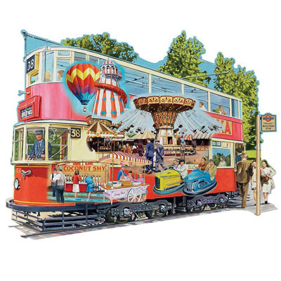Heading To The Fair 300 Large Piece Shaped Jigsaw Puzzle