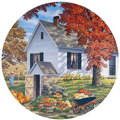 Garden Harvest 300 Large Piece Round Jigsaw Puzzle