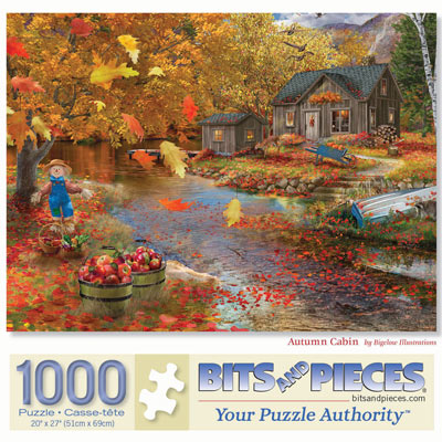 Autumn Cabin 1000 Piece Jigsaw Puzzle