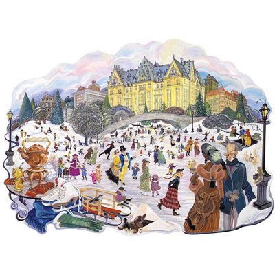 Skating In The Park 300 Large Piece Jigsaw Puzzle