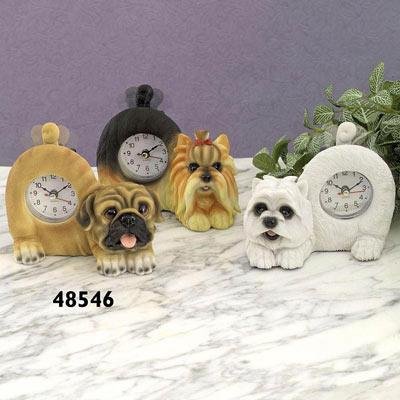 Tail Wagging Pug Clock
