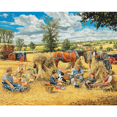 Harvest Lunch 500 Piece Jigsaw Puzzle