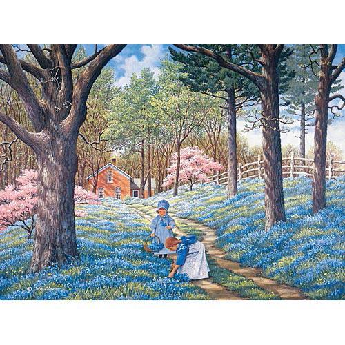 Blue Belles 1000 Piece Jigsaw Puzzle