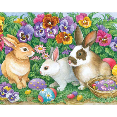 Bunny Treasures 200 Large Piece Jigsaw Puzzle