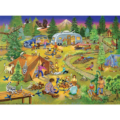 Camping With Grandma And Gramps 1000 Piece Jigsaw Puzzle