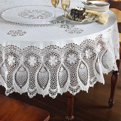 178cm Round Faux Lace Tablecloth
