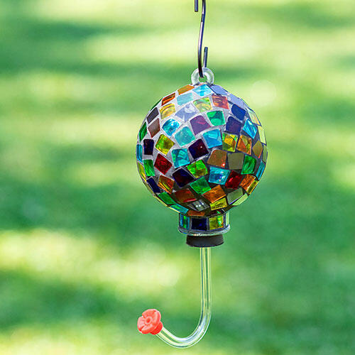 Colorful Mosaic Hummingbird Feeder