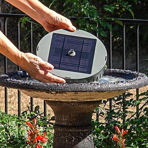 Solar Birdbath Fountain Kit