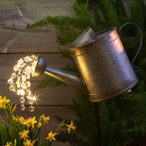 Solar Watering Can Stake