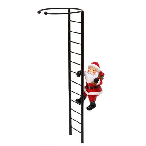 Santa and Ladder Amaryllis Stake