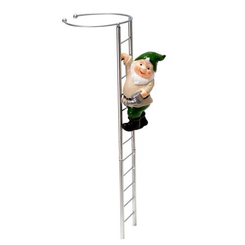 Gnome and Ladder Amaryllis Stake