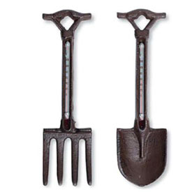 Fork and Shovel Thermometer