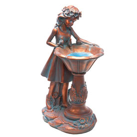 Solar Garden Girl Statue