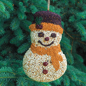 Birdseed Snowman