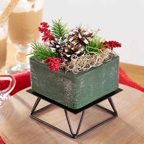 Wax Potpourri Square and Metal Stand