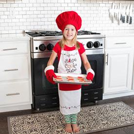 Santa's Cookie Tester Apron Set