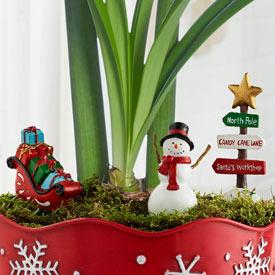 Christmas Fairy Garden Set