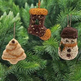 Bird Seed Ornament Trio