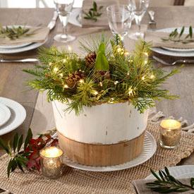 Jumbo White Amaryllis with Lighted Wreath