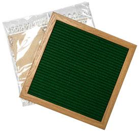 Green Felt Letter Board