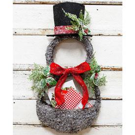 Snowman Basket Wreath
