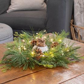 Lighted Table Wreath
