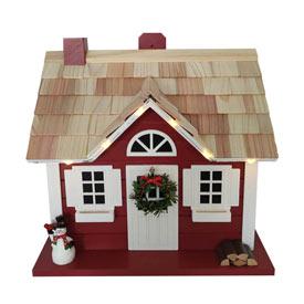Capeside Christmas Lighted Birdhouse