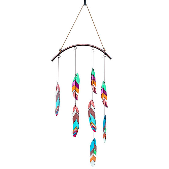 Glass Feather Mobile