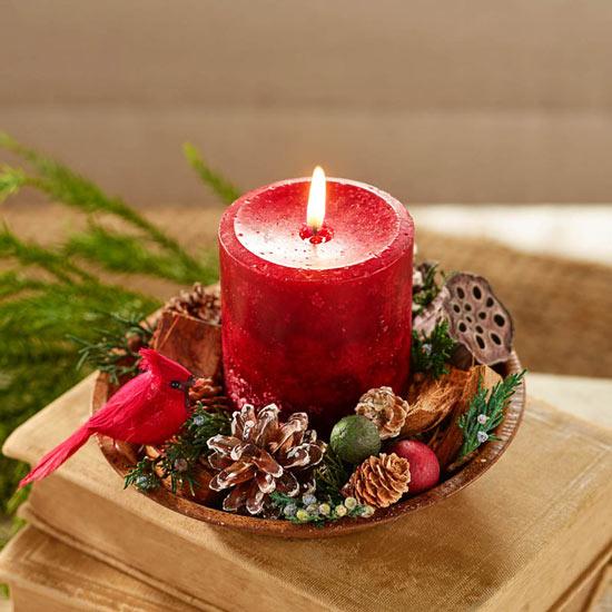 Cardinal Potpourri Candle Set