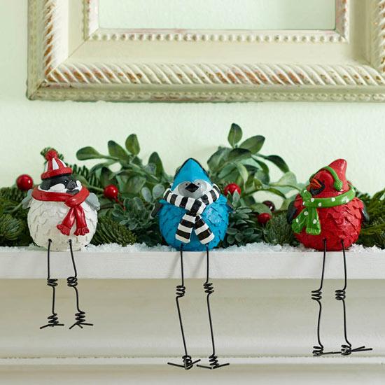 Winter Tweeting Bird Trio