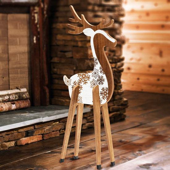 Snowflake Reindeer Statue