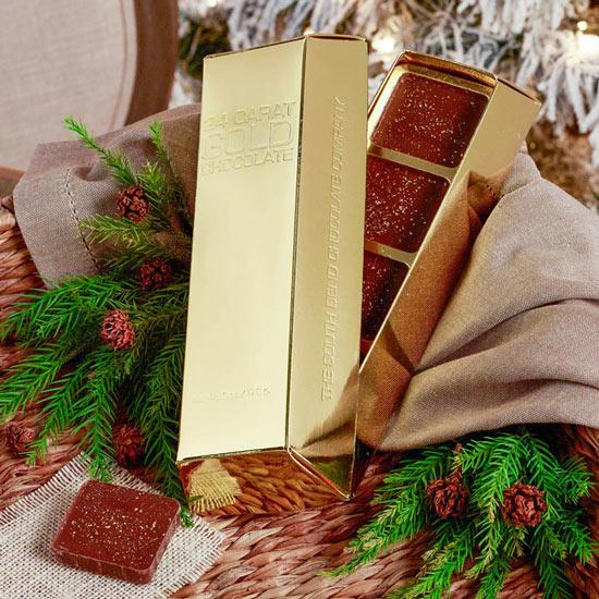 24 Carat Gold Chocolate Bar - 6 oz.