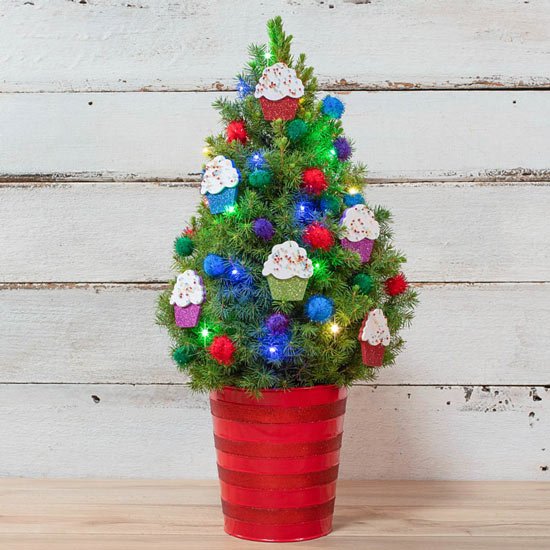 Colorful Cupcakes Spruce Tree