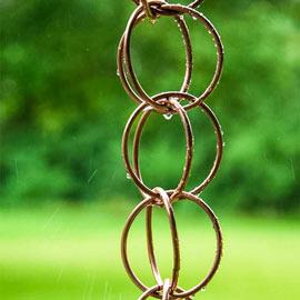 Polished Copper Rain Chain