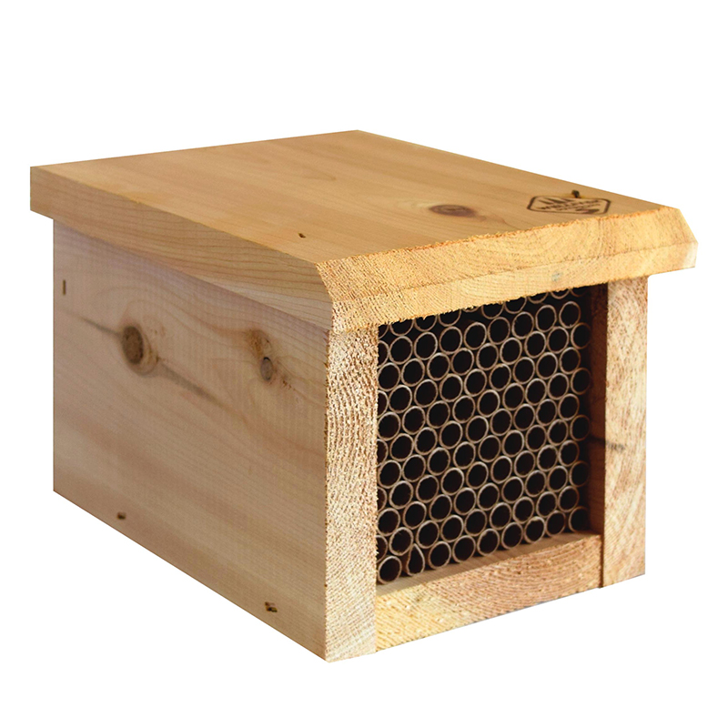 Mason Bee House with Replaceable Tubes