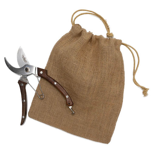 Gurney's<sup>®</sup> Rosewood Pruners in bag